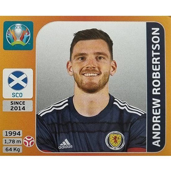 Panini EURO 2020 Sticker Nr 442 Andrew Robertson