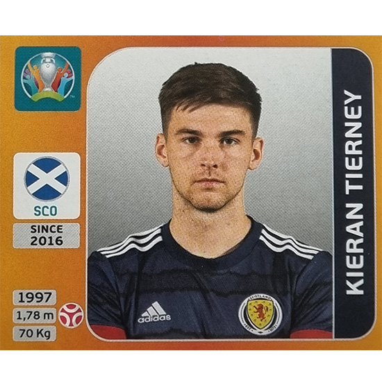 Panini EURO 2020 Sticker Nr 443 Kieran Tierney