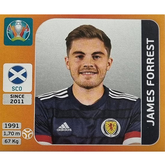Panini EURO 2020 Sticker Nr 446 James Forrest