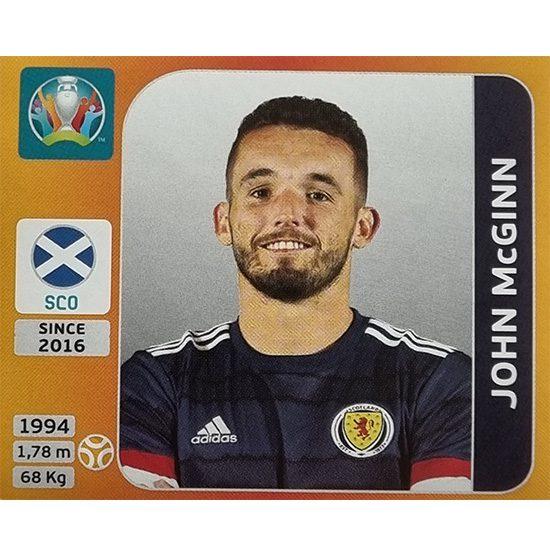 Panini EURO 2020 Sticker Nr 448 John McGinn