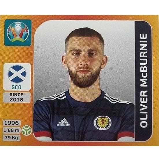 Panini EURO 2020 Sticker Nr 454 Oliver McBurnie