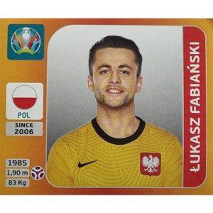 Panini EURO 2020 Sticker Nr 461 Lukasz Fabianski