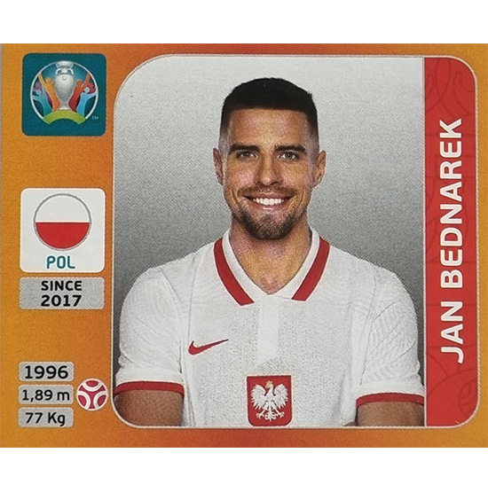 Panini EURO 2020 Sticker Nr 462 Jan Bednarek