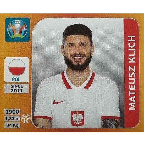 Panini EURO 2020 Sticker Nr 472 Mateusz Klich