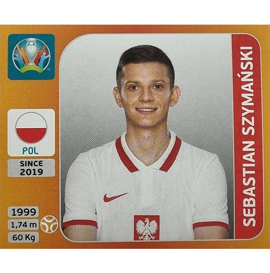 Panini EURO 2020 Sticker Nr 475 Sebastian Szymanski
