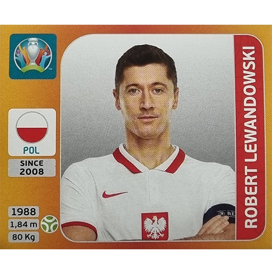 Panini EURO 2020 Sticker Nr 477 Robert Lewandowski
