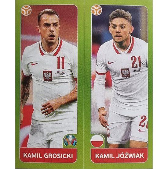Panini EURO 2020 Sticker Nr 482 Grosicki Jozwiak