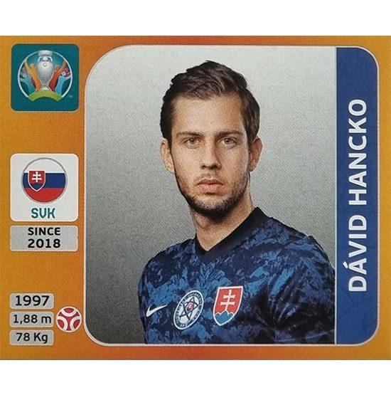 Panini EURO 2020 Sticker Nr 495 David Hancko