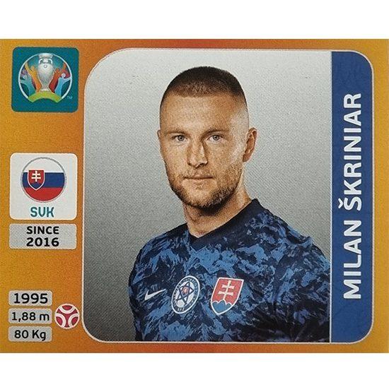 Panini EURO 2020 Sticker Nr 499 Milan Skriniar