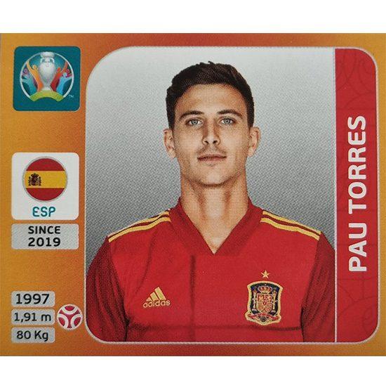 Panini EURO 2020 Sticker Nr 520 Pau Torres