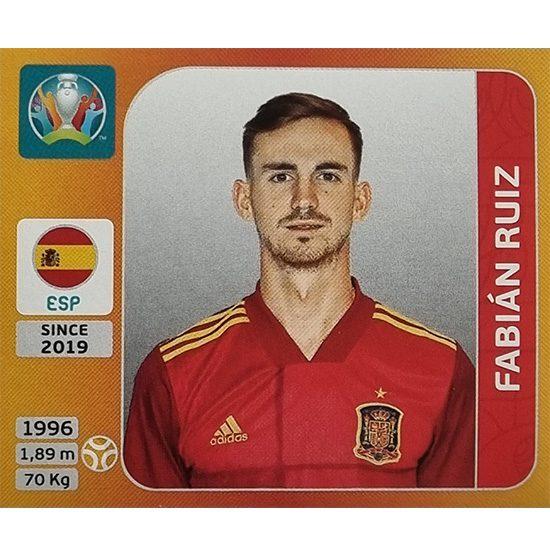 Panini EURO 2020 Sticker Nr 526 Fabian Ruiz