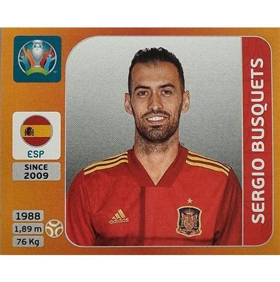 Panini EURO 2020 Sticker Nr 527 Sergio Busquets