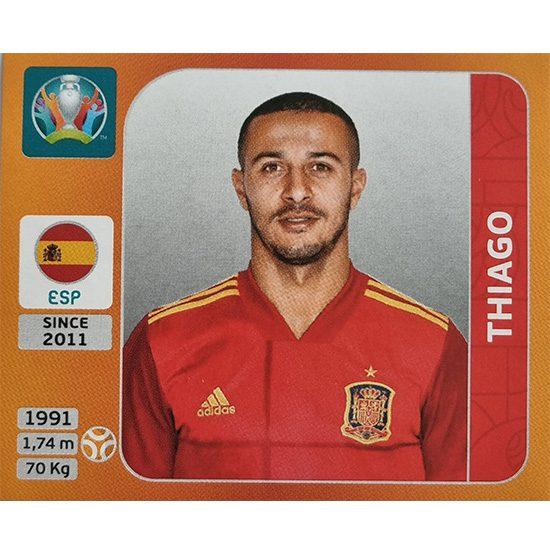 Panini EURO 2020 Sticker Nr 528 Thiago
