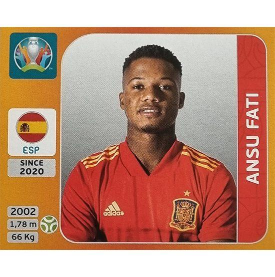 Panini EURO 2020 Sticker Nr 529 Ansu Fati
