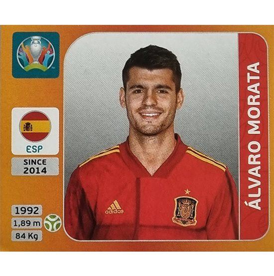 Panini EURO 2020 Sticker Nr 530 Alvaro Morata