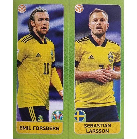 Panini EURO 2020 Sticker Nr 543 Forsberg Larsson