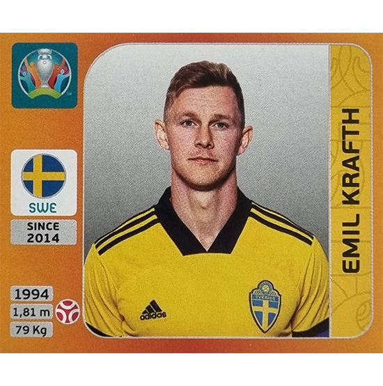Panini EURO 2020 Sticker Nr 549 Emil Krafth