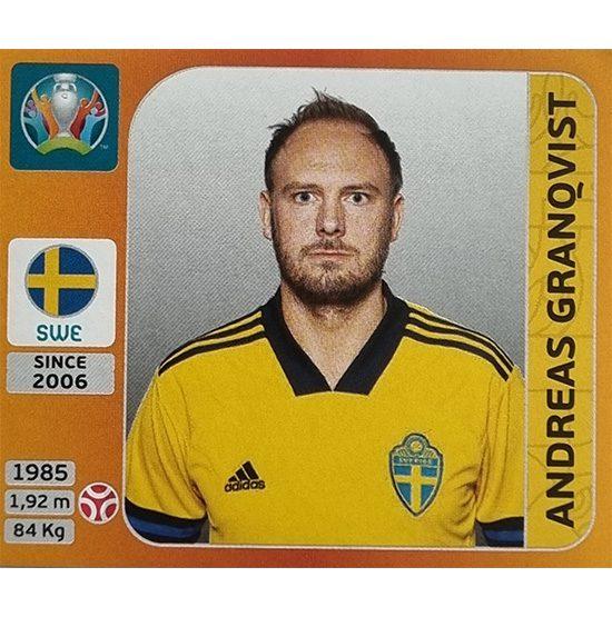 Panini EURO 2020 Sticker Nr 551 Andreas Granqvist
