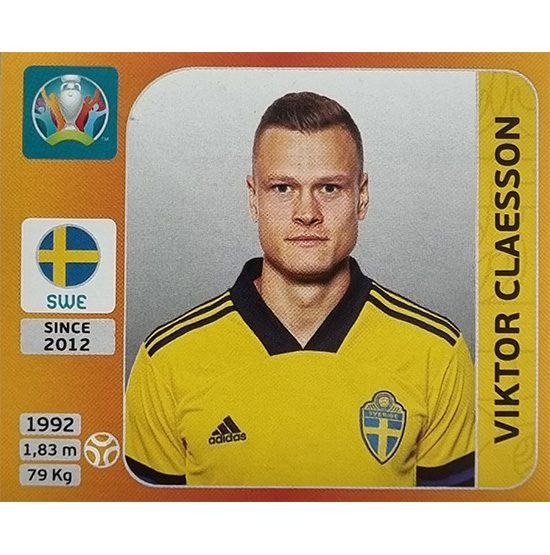 Panini EURO 2020 Sticker Nr 556 Viktor Claesson