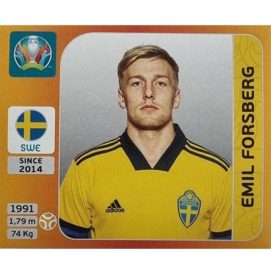 Panini EURO 2020 Sticker Nr 558 Emil Forsberg