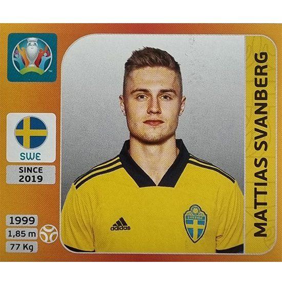 Panini EURO 2020 Sticker Nr 561 Mattias Svanberg