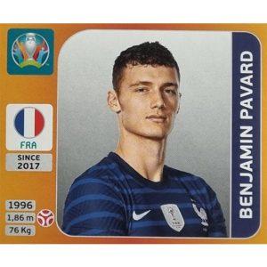 Panini EURO 2020 Sticker Nr 578 Benjamin Pavard