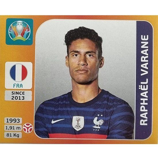 Panini EURO 2020 Sticker Nr 580 Raphael Varane