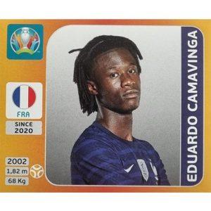 Panini EURO 2020 Sticker Nr 581 Eduardo Camavinga