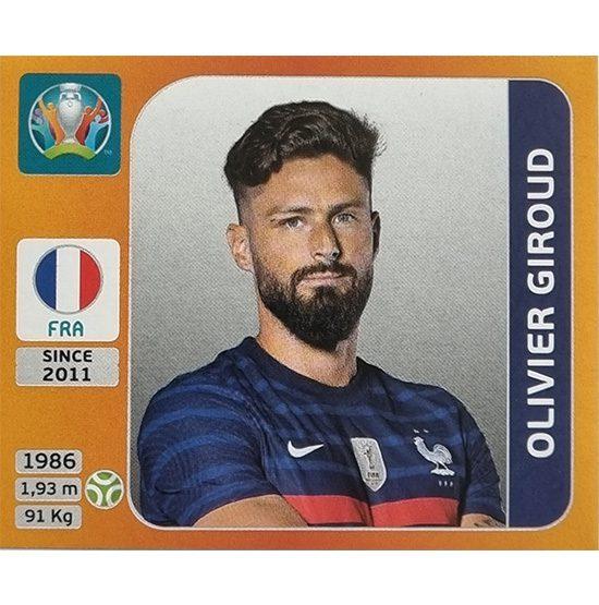 Panini EURO 2020 Sticker Nr 588 Olivier Giroud