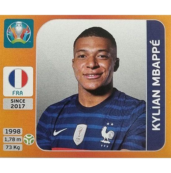 Panini EURO 2020 Sticker Nr 591 Kilian Mbappe