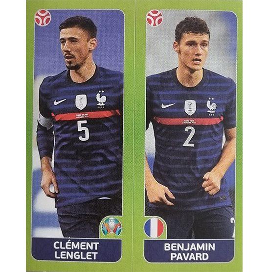 Panini EURO 2020 Sticker Nr 593 Lenglet Pavard