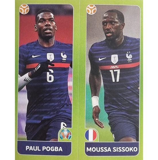 Panini EURO 2020 Sticker Nr 595 Pogba Sissoko