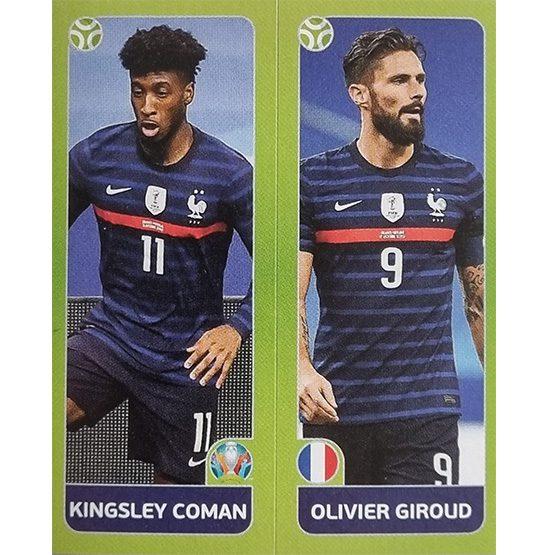 Panini EURO 2020 Sticker Nr 596 Coman Giroud