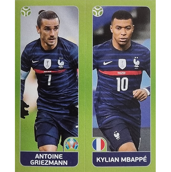 Panini EURO 2020 Sticker Nr 597 Griezmann Mbappe