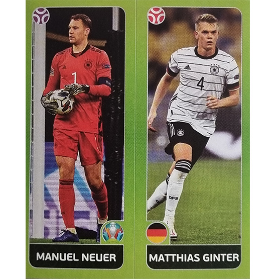 Panini EURO 2020 Sticker Nr 598 Neuer Ginter