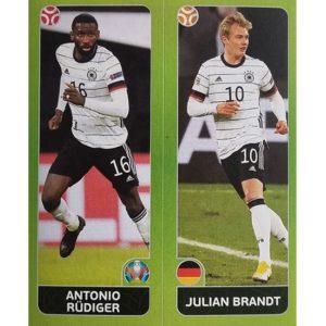 Panini EURO 2020 Sticker Nr 599 Rüdiger Brandt
