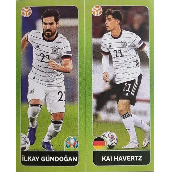 Panini EURO 2020 Sticker Nr 601 Gündogan Havertz