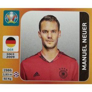 Panini EURO 2020 Sticker Nr 605 Manuel Neuer