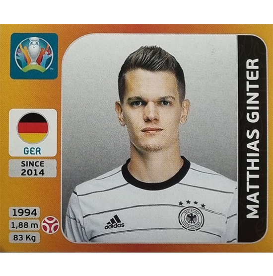 Panini EURO 2020 Sticker Nr 607 Matthias Ginter