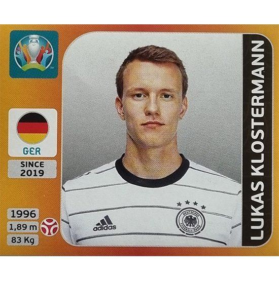 Panini EURO 2020 Sticker Nr 609 Lukas Klostermann