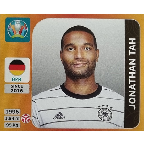 Panini EURO 2020 Sticker Nr 612 Jonathan Tah