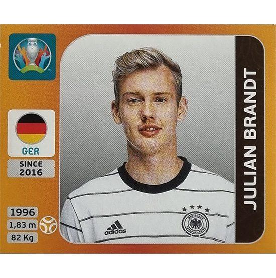 Panini EURO 2020 Sticker Nr 613 Julian Brandt