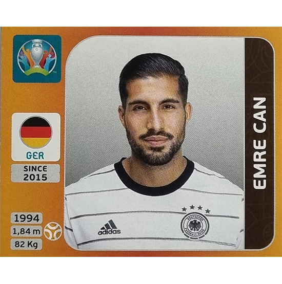 Panini EURO 2020 Sticker Nr 614 Emre Can