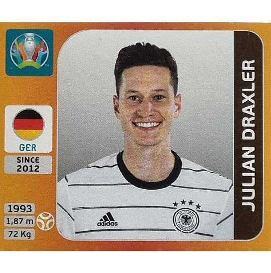 Panini EURO 2020 Sticker Nr 615 Julian Draxler
