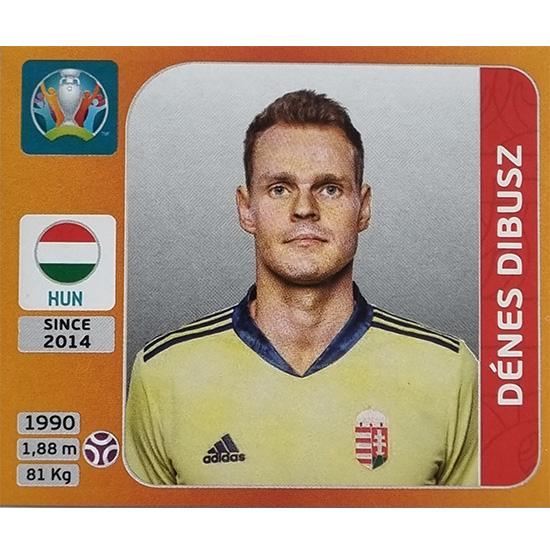 Panini EURO 2020 Sticker Nr 627 Denes Dibusz