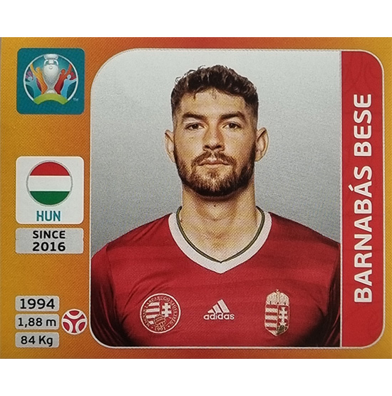 Panini EURO 2020 Sticker Nr 628 Barnabas Bese