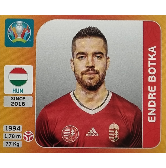 Panini EURO 2020 Sticker Nr 629 Endre Botka