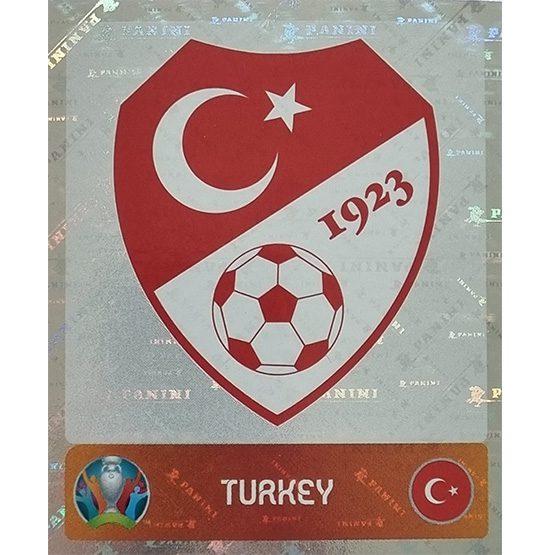 Panini EURO 2020 Sticker Nr 065 Turkey Logo