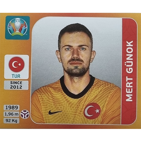Panini EURO 2020 Sticker Nr 066 Mert Günok