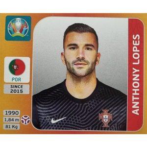 Panini EURO 2020 Sticker Nr 660 Anthony Lopes
